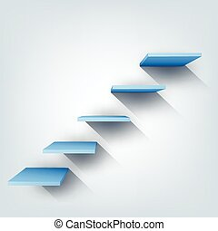 Abstract vector Illustration. Composition with 3d stairs