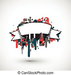 Abstract vector Illustration. Hand drawn banner with place for text.