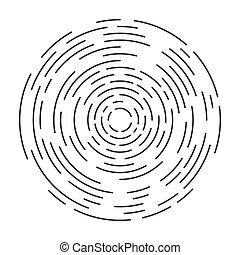 Abstract vector illustration of a circular vortex. Simple design isolated on white background