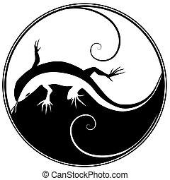 lizard - abstract vector illustration of a lizard