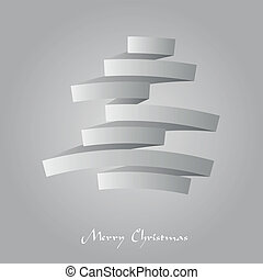 Abstract vector illustration of a paper folded christmas tree