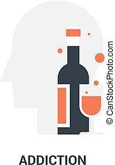addiction icon concept