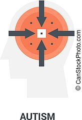 autism icon concept - Abstract vector illustration of autism...