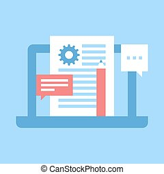 blog management - Abstract vector illustration of blog...