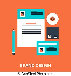 brand design - Abstract vector illustration of brand design ...