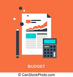 budget - Abstract vector illustration of budget flat design ...