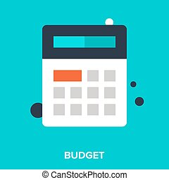 Abstract vector illustration of budget flat design concept.