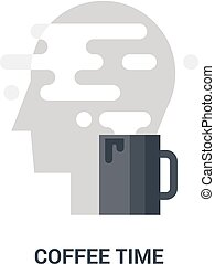 coffee time icon concept