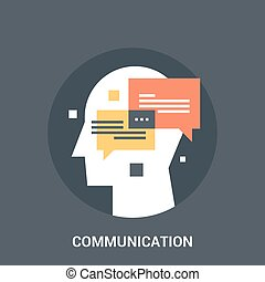 communication icon concept