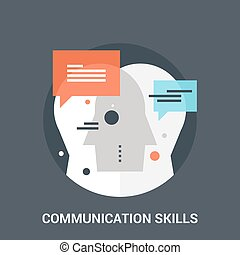communication skills icon concept