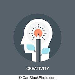 creativity icon concept