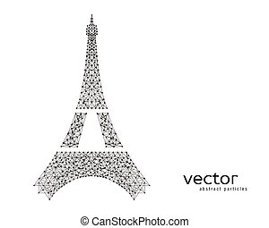 Abstract vector illustration of Eiffel Tower.