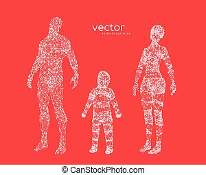 Abstract vector illustration of family.