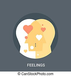 feelings icon concept