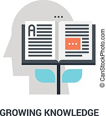 growing knowledge icon concept