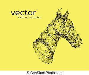 Abstract vector illustration of horse head.