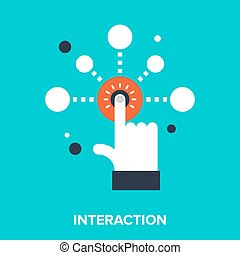 Abstract vector illustration of interaction flat design concept.
