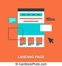 landing page - Abstract vector illustration of landing page...