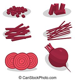 Abstract vector illustration of logo for the theme of red beet