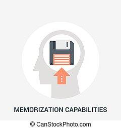 memorization capabilities icon concept - Abstract vector ...