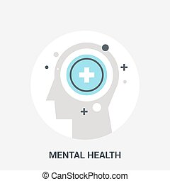 mental health icon concept - Abstract vector illustration of...