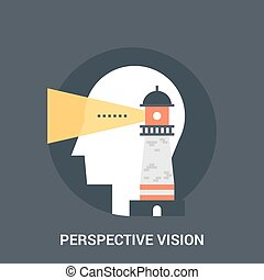 perspective vision icon concept