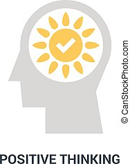 positive thinking icon concept