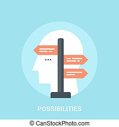 possibilities icon concept - Abstract vector illustration of...