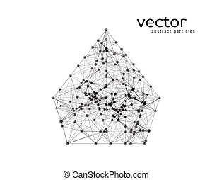 Abstract vector illustration of pyramid.