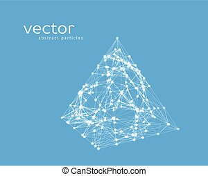 Abstract vector illustration of pyramid