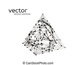 Abstract vector illustration of pyramid