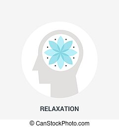 relaxation icon concept