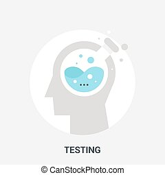 testing icon concept - Abstract vector illustration of ...