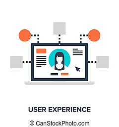 user experience - Abstract vector illustration of user...
