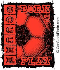 football - Abstract vector illustration scratched red and...