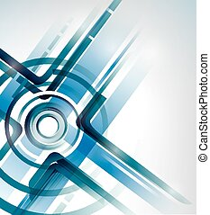 abstract vector intersection background