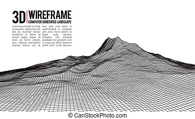 Abstract vector landscape background.