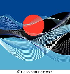 Abstract vector landscape