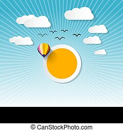 Abstract Vector Landscape wit Sun