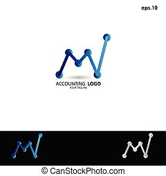 Abstract vector logo accounting
