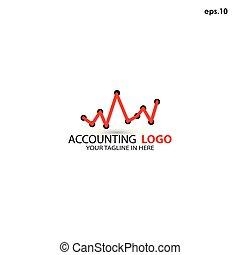 Abstract vector logo accounting