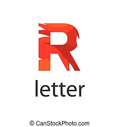 Abstract vector logo colored letter R
