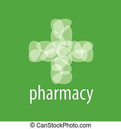 Abstract vector logo cross from the petals of Pharmacy
