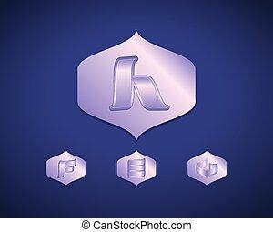 Abstract Vector Logo Design Template. Creative Blue Concept...
