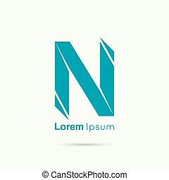 Abstract vector logo design template.
