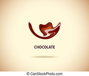 Abstract Vector Logo Design Template. Creative Chocolate...