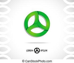 Abstract Vector Logo Design Template. Creative Round Concept...