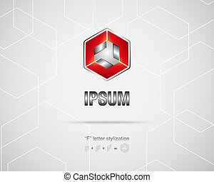 Abstract Vector Logo Design Template - Technology Business...