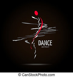 Abstract Vector Logo Design Template. Creative Dance Concept...