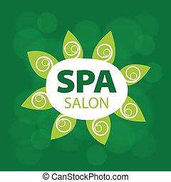 Abstract vector logo for Spa salon